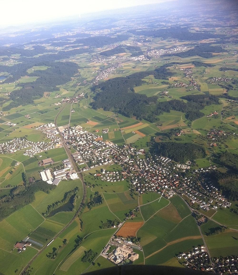 gemeinde eschlikon 8360  ballon luftaufnahmen ostschweiz